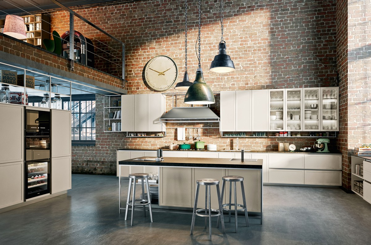 Cucina dal design industriale for Design moderno casa industriale